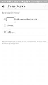 Instagram - Contact Information 1