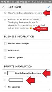 Instagram - Contact Information 3
