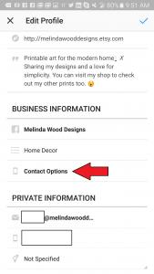 Instagram - Contact Information 2